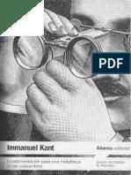 Kant, I.-fundamentación Para Una Metafísica de Las Costumbres