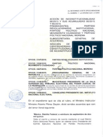 Admisión ACCIÓN DE INCONSTITUCIONALIDAD