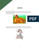 Cuento Ilustrado Bambi