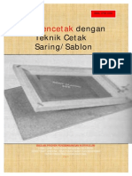 Teknik Mencetak Dengan Sablon