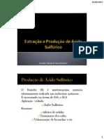 Aula 03 - Extração e Produção de Ácido Sulfúrico