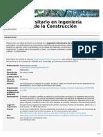 Máster Universitario en Ingeniería Estructural y de La Construcción (ETSECCPB)