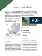 Barrera Entre Hungría y Serbia