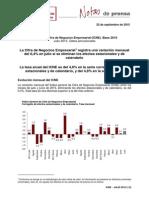 Índices de Cifra de Negocios Empresarial (ICNE) Julio de 2015