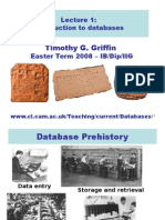 Lecture 1:Introduction to databases