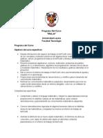 Programa Del Curso de Matlab Para ELMT- Universidad Loyola
