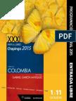 Cartelera XXXI Feria del Libro Chapingo 2015