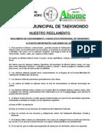 Reglamento de La Esc. Mpal. de Tkd - Ahome