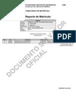 Reporte de Matricula (IX Ciclo) - Miguel Peralta