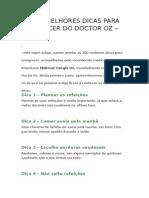As 100 Melhores Dicas Para Emagrecer Do Doctor Oz