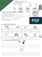 Guía de Refuerzo q, g, z y ñ