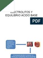 Electrolitos y Equilibrio Acido Base