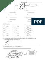 Natavni listić iz matematike za 1. razred
