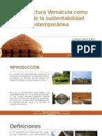 Arquitectura Vernácula presentación