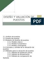 Diseño y Valuación de Puestos