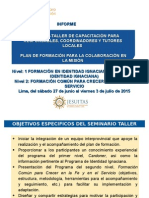 Informe Programa Cpal Reunion Superiores Ago 2015