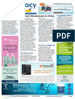 Pharmacy Daily for Thu 24 Sep 2015 - Chemist Warehouse to China, APP2016 to examine UK pharmacy model, Priceline Sisters in store today, Travel Specials and much more