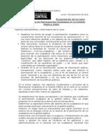 Presentación de la Carta Iberoamericana de Participación Ciudadana en la Gestión Pública 2009.