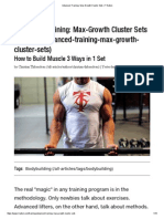 Max-Growth Cluster Sets