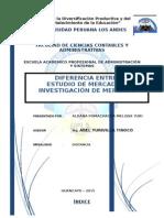 INVESTIGACION DE MERCADO VS ESTUDIO DE MERCADO