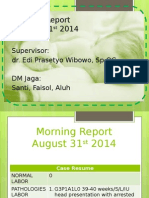 Morning Report 31-8-14