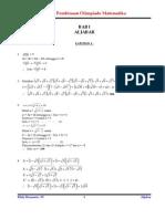 Solusi Latihan Materi Aljabar Versi 3