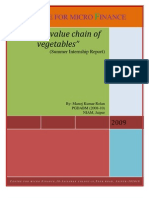Value chain of vegetables