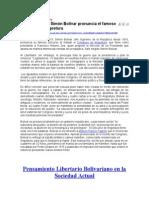Concurso Oratoria 3 Lecturas Referenciales Pensamiento Simon Bolívar