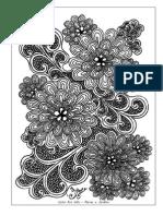 Livro de Colorir Para Adultos Flores e Jardins 2
