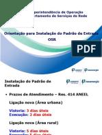 Orientação Padrão de Entrada 2013