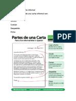 Partes de Una Carta Informal