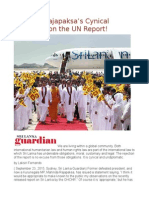 Mahinda Rajapaksa's Cynical Argument on the UN Report!