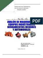 Libro Avalúo de Maquinarias y Equipos Industriales Arreglado