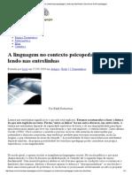 A Linguagem No Contexto Psicopedagógico, Lendo Nas Entrelinhas _ Seminários de Psicopedagogia