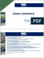 Estradas e Transportes III - Aulas 01