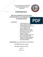 Informe 01 topografía