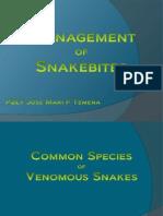 Management of Snakebites