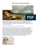 Gainsborough, the Subtle Art of a Landscape Painter.