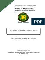 Reglamento de Grados y Titulos FARQ UNCP