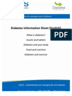 Diabetes Info Sheet