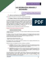 taller fuentes de información primaria y secundaria
