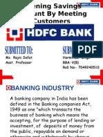 HDFC  Savings Account PPT