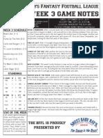 BFFL Notes Week 3