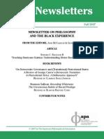 V 07 n 1 Black Experience