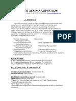 Jodi Assimakopoulos Professional Resume