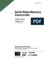 F55+F5 Manual PMW-F55 and PMW-F5 camera
