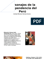 Personajes de La Independencia Del Perú