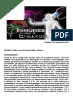 Inmunes Al Ataque Del Enemigo