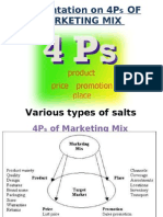 Presentation on 4ps of Marketing Mix