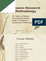 Advance Research Methodology(MBA General, 1st semester) by Dr. Qamar Zaman